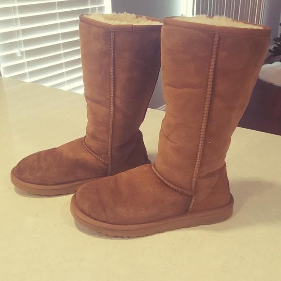 9754b768682 Tall UGG Australia Sheepskin Tan Boots